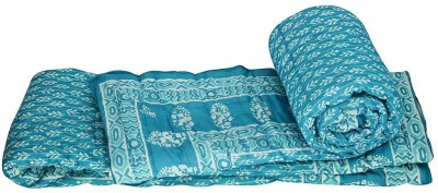 Me Home Floral Double Quilts & Comforters Blue