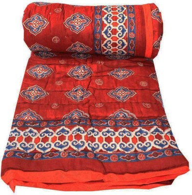 Chhipa Prints Floral Single Quilts & Comforters Red