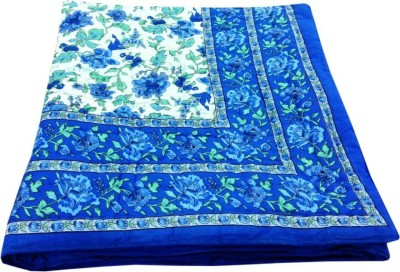 N decor Floral Single Quilts & Comforters Blue