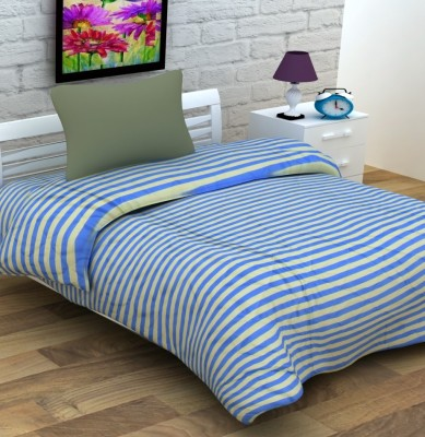 Enfin Homes Striped Single Quilts & Comforters Blue