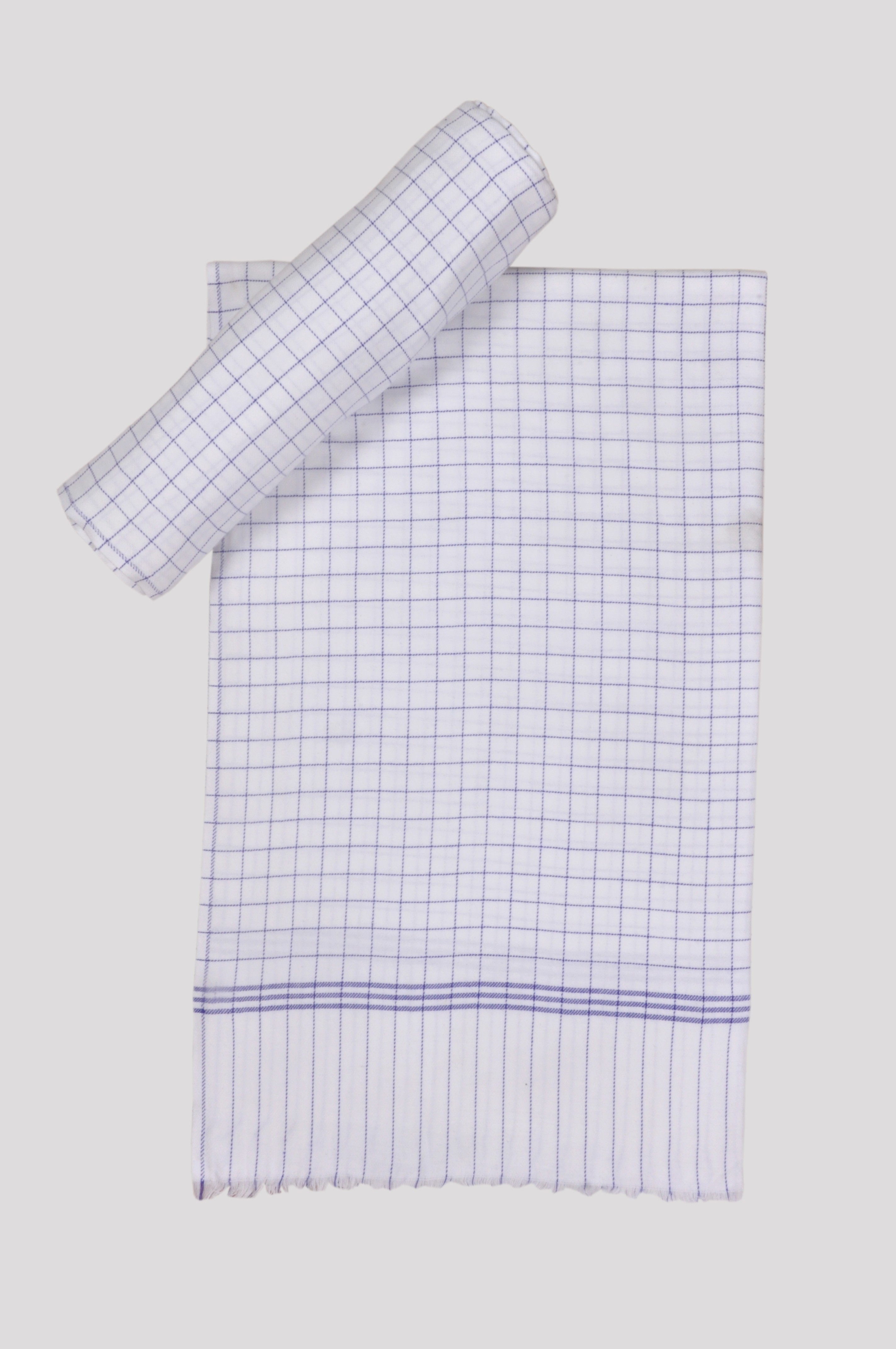 Jass Home Decor Checkered Single Blanket Blue(AC Blanket, Set of 2 Blanket)