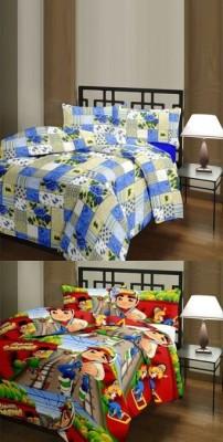 The Home Story Checkered, Cartoon Single Dohar Multicolor