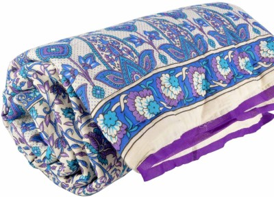 DFR Floral Single Quilts & Comforters Blue