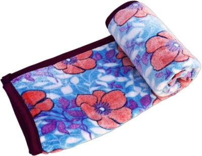 JK Handloom Floral Double Blanket Blue
