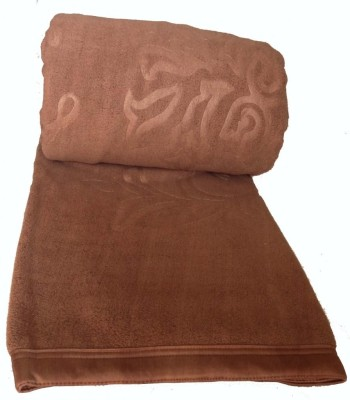 Kotcosy Striped Double Blanket Brown