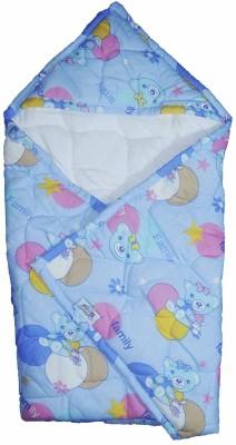 MOMMAS BABY Animal Double Swadding Baby Blanket Blue