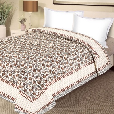 Aapno Rajasthan Floral Double Quilts & Comforters Multicolor