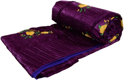 Rangasthali Embroidered Double Quilts & Comforters Purple