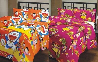 Renown Cartoon Single Dohar MultiColored