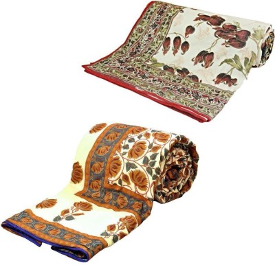 Home India Floral Double Quilts & Comforters Multicolor