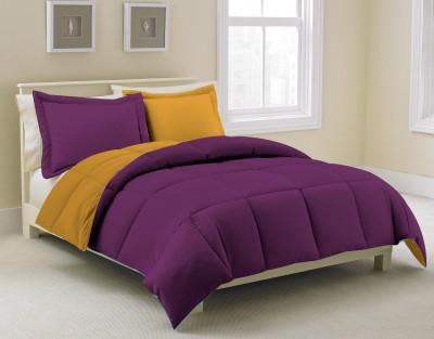KIAANA USA Plain Single Quilts & Comforters Purple, Yellow