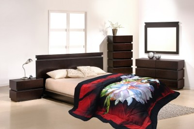Wrap Floral Double Quilts & Comforters Red
