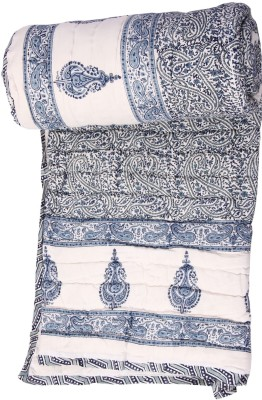 Chhipa Prints Floral Double Quilts & Comforters Grey