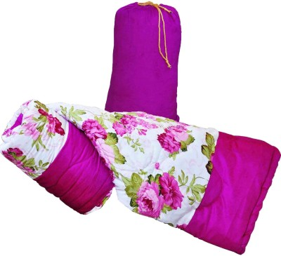 GS Museum Pink flower white pink quilt Cotton, Poly Blend, Bamboo, Cotton Blend, Silk Batting