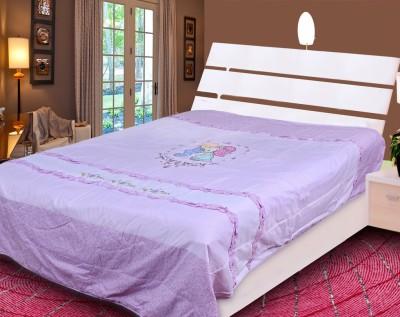 Rangoli Floral Double Quilts & Comforters Purple