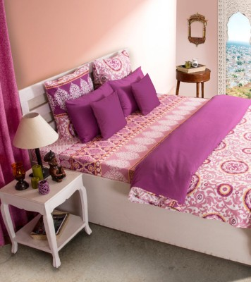 House This Floral Single Quilts & Comforters Pink