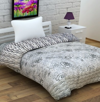 Enfin Homes Floral Single Quilts & Comforters Grey