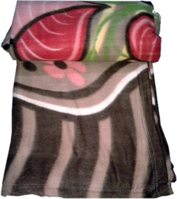 GKEstore Floral Single Blanket Brown