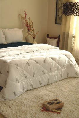 Zyne Checkered Double Quilts & Comforters White