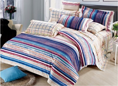 Zyne Striped Double Quilts & Comforters Multicolor