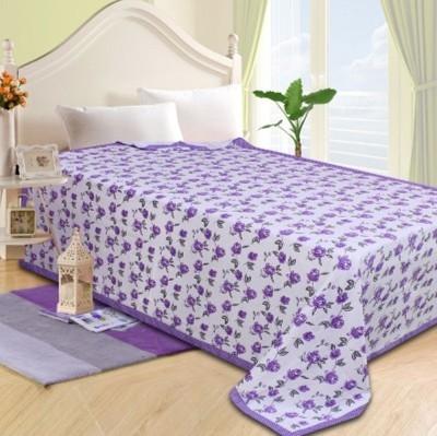 Fabriclair Floral Single Top Sheet Purple