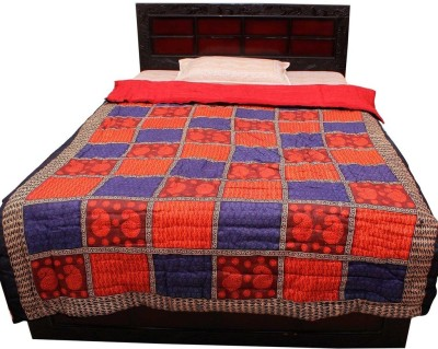 Halowishes Checkered Single Quilts & Comforters Red