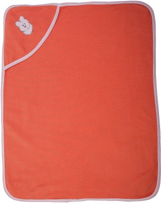 Utc Garments Plain Single Blanket Orange, Light Orange, White