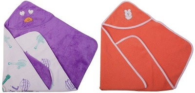 Utc Garments Cartoon, Plain Single Hooded Baby Blanket Light Purple, Light Orange, White, Red