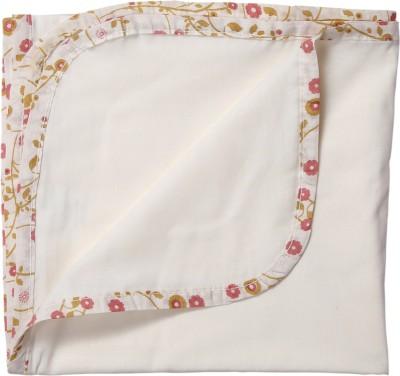 BACHHA ESSENTIAL Floral Single Blanket White