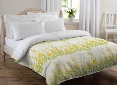 Bella Casa Floral Single Quilts & Comforters Light Green