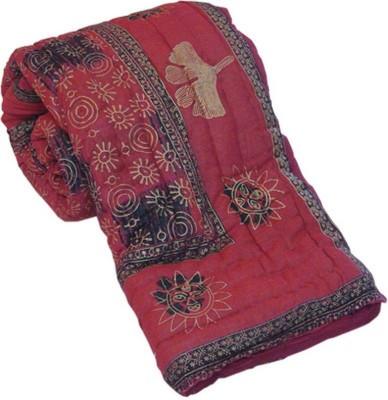 Monil Floral Double Quilts & Comforters Pink