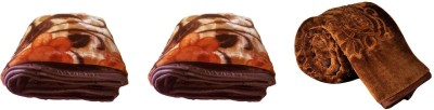 Satviham Self Design Double, Single Blanket Multicolor