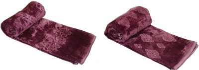 Satviham Embroidered Single Blanket Purple