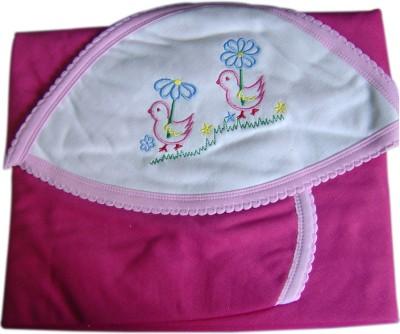 Tiny Care Plain Single Blanket Pink