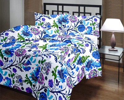 Factorywala Floral Single Blanket Blue