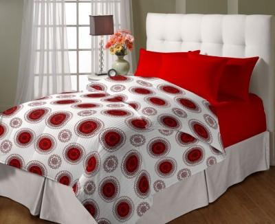 Bella Casa Motifs Single Dohar Red