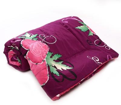 Jain International Floral Single Blanket Purple