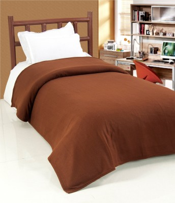 Surhome Plain Single Blanket Brown