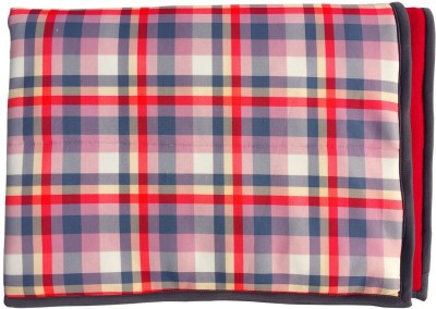 Wobbly Walk Checkered Single Blanket Red