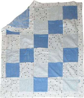 Abracadabra Couture Patchwork Baby Blanket - Blue