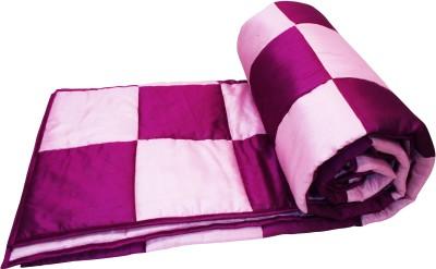 Zikrak Exim Striped Single Quilts & Comforters Pink, Lavender