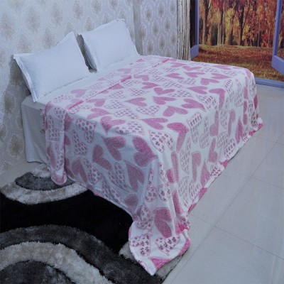 Welhouse India Polka Double Blanket Pink