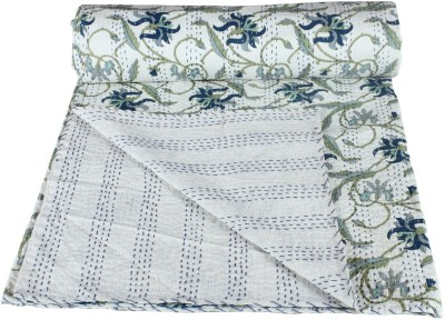 Rajcrafts Floral Double Quilts & Comforters White