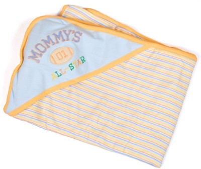 Baby Bucket Striped Single Blanket Blue