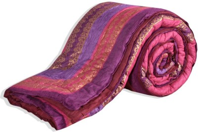 Chelsi Printed Double Quilts & Comforters Pink