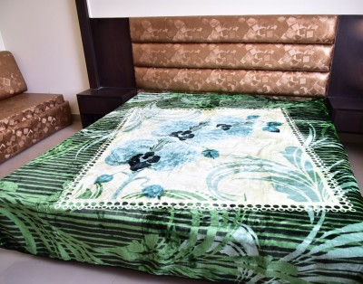 DHANI Printed Queen Blanket Green