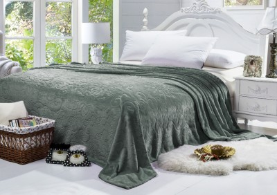 Bombay Dyeing Floral Double Blanket Green