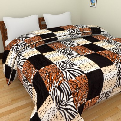 Spangle Checkered Double Blanket, Top Sheet Multicolor