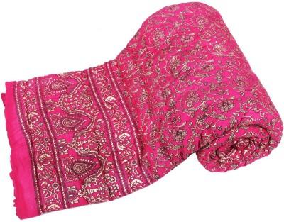 Jaipurtextilehub Floral Double Quilts & Comforters Pink