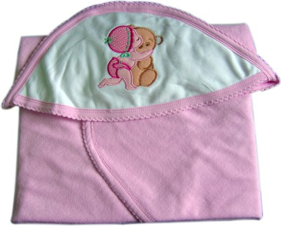 Tiny Care Checkered Single Blanket Pink